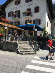 Unser Mittagsziel Hotel Schuster in Gossensaß