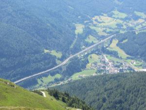 Ein Blick die Brennerautobahn