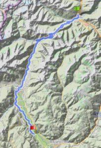 Radtreff - Transalp 2013-tag-4-strecke