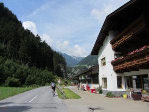 Auffahrt hinter Mayrhofen