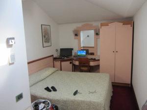 Die Zimmer sind recht klein