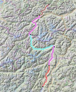 Radtreff - Transalp 2011-gesamtstrecke