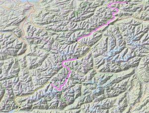 Radtreff - Transalp 2012-gesamtstrecke
