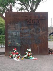 Gedenksteele in Gedenken an die Opfer des Loveparade Unglück